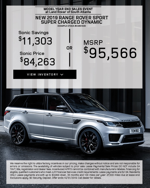 2019 Range Rover Sport Purchase Special