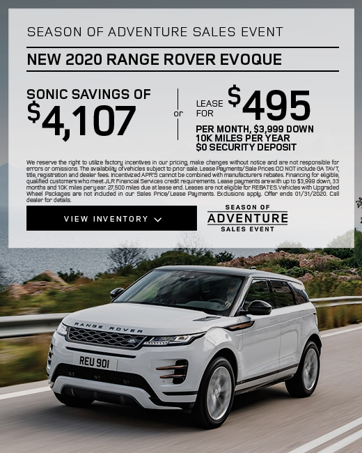 2020 Range Rover Evoque Purchase & Lease Special