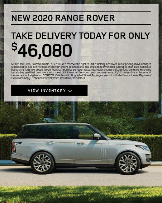 2020 Land Rover Range Rover Purchase Specials