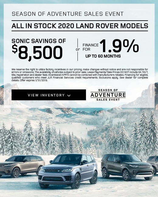 2020 Land Rover Purchase Special