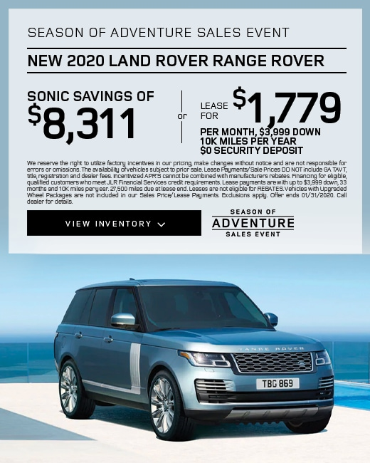 2020 Land Rover Range Rover Purchase & Lease Special