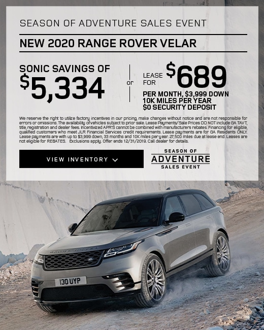 2020 Range Rover Velar Purchase & Lease Special