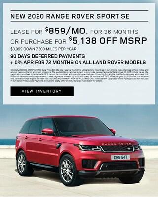 2020 Range Rover Sport Lease Specials