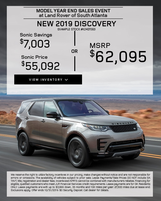 2019 Land Rover Discovery Purchase Special