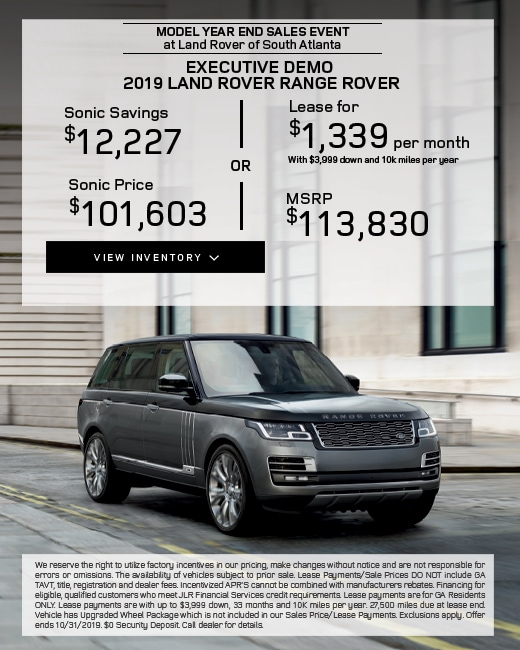 2019 Land Rover Range Rover Purchase & Lease Special