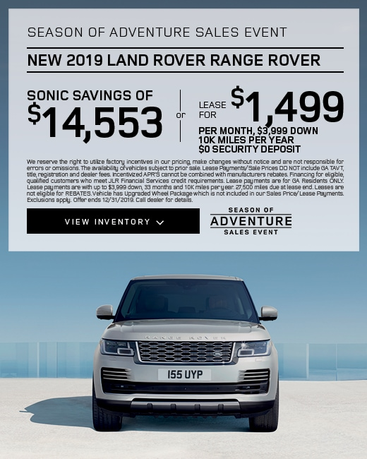 2019 Range Rover Purchase & Lease Special