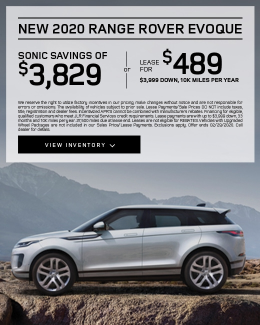 2020 Land Rover Range Rover Evoque Purchase Specials