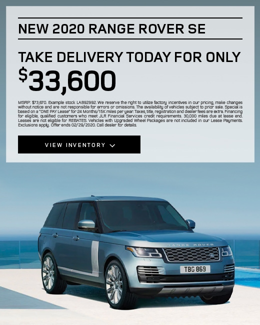 2020 Land Rover Range Rover SE Purchase Specials