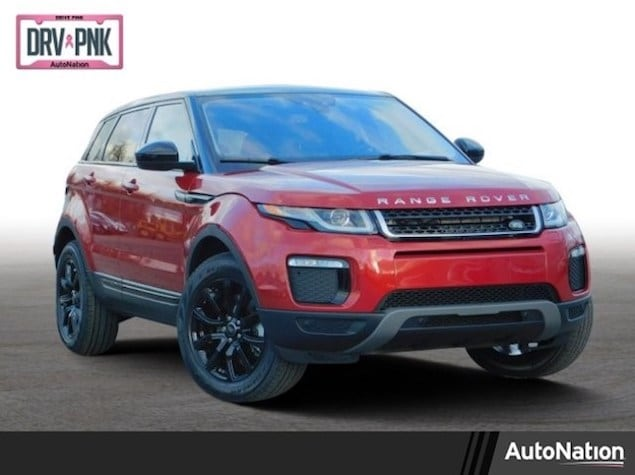 2019 Range Rover Evoque in metallic red