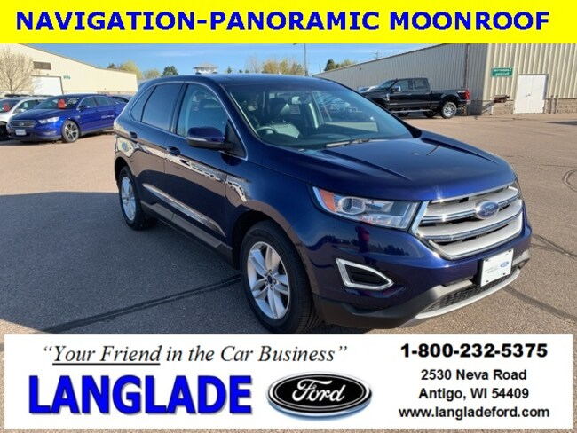 Certified Used 2016 Ford Edge SEL SUV for sale in Antigo, WI