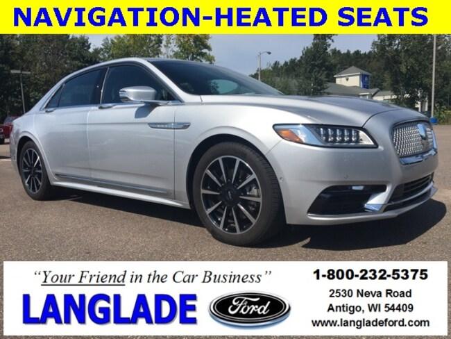 Used 2017 Lincoln Continental For Sale Antigo Wi 1ln6l9nc3h5602670