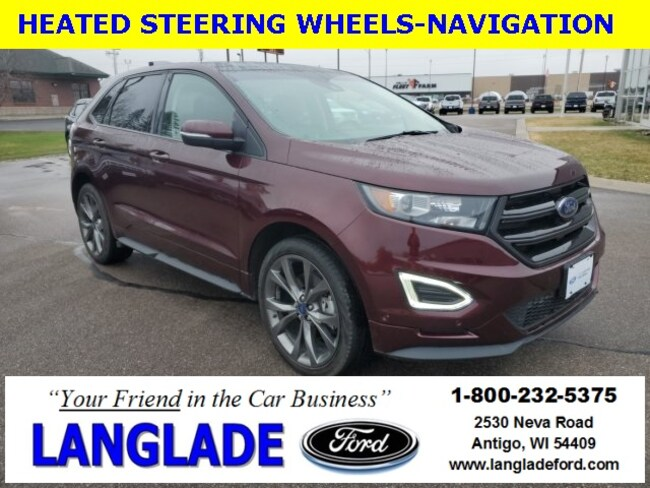 Certified Used 2017 Ford Edge Sport SUV for sale in Antigo, WI