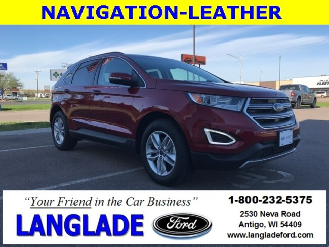 Certified Used 2018 Ford Edge SEL SUV for sale in Antigo, WI