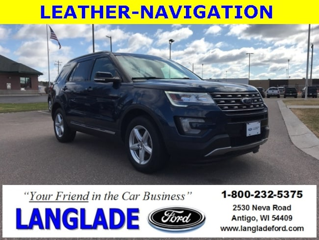 Certified Used 2016 Ford Explorer XLT SUV for sale in Antigo, WI