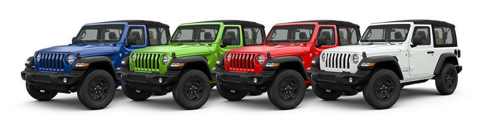 2018 Jeep Wrangler Color Options >> 2018 Jeep Wrangler Jl Color Options Trim Levels