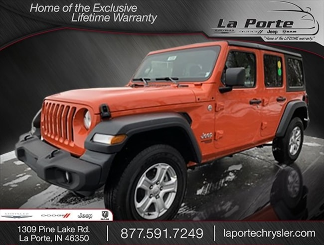 New 2018 Jeep Wrangler UNLIMITED SPORT S 4X4 Sport Utility in La Porte, IN