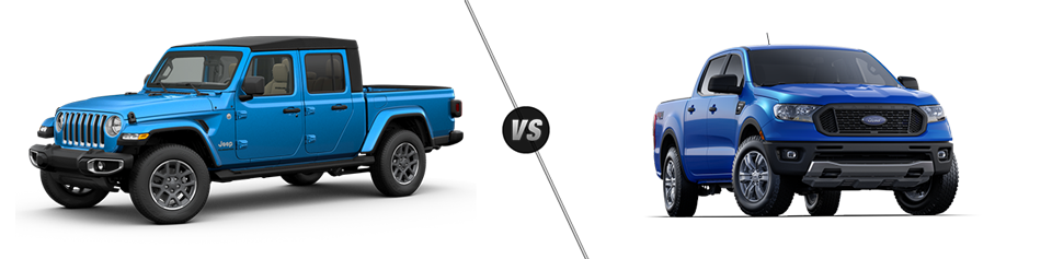 Jeep Gladiator vs. Ford Ranger