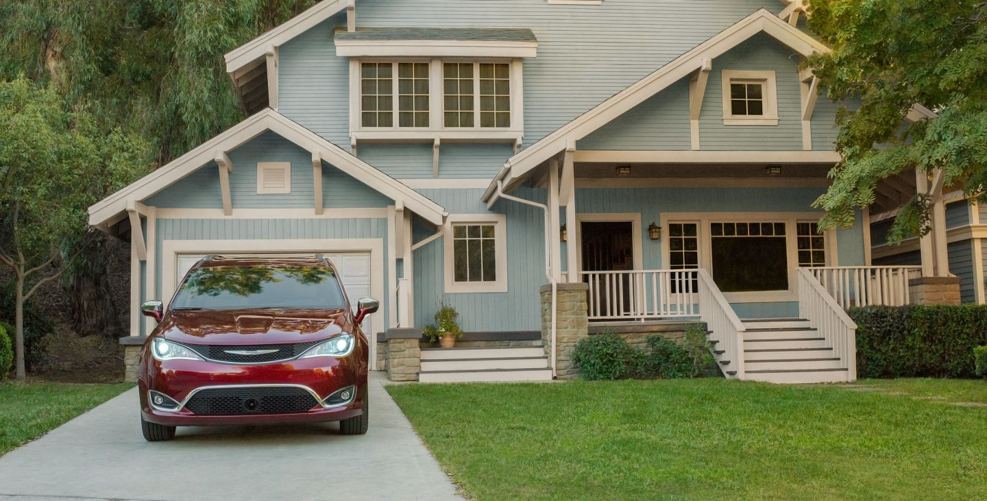 2018 Chrysler Pacifica Front Parked Red Exterior