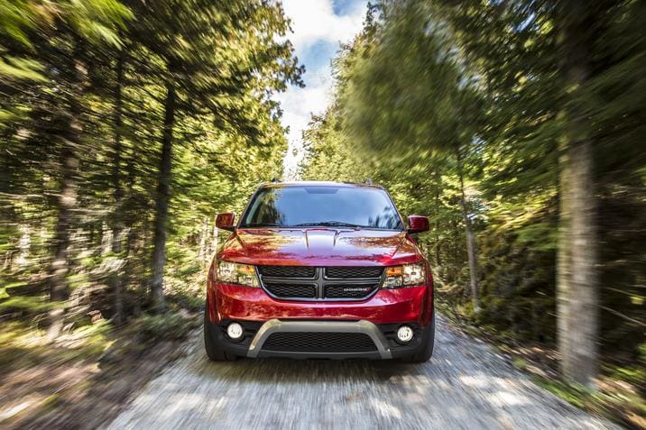 2018 Dodge Journey Crossroad Front Red Exterior Grille