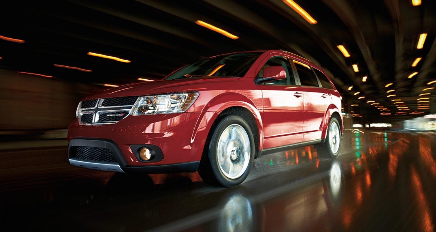 2018 Dodge Journey Front Red Driving Exterior