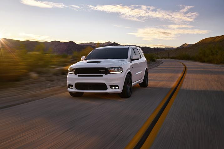 2018 Dodge Durango SRT White Driving Exterior Road