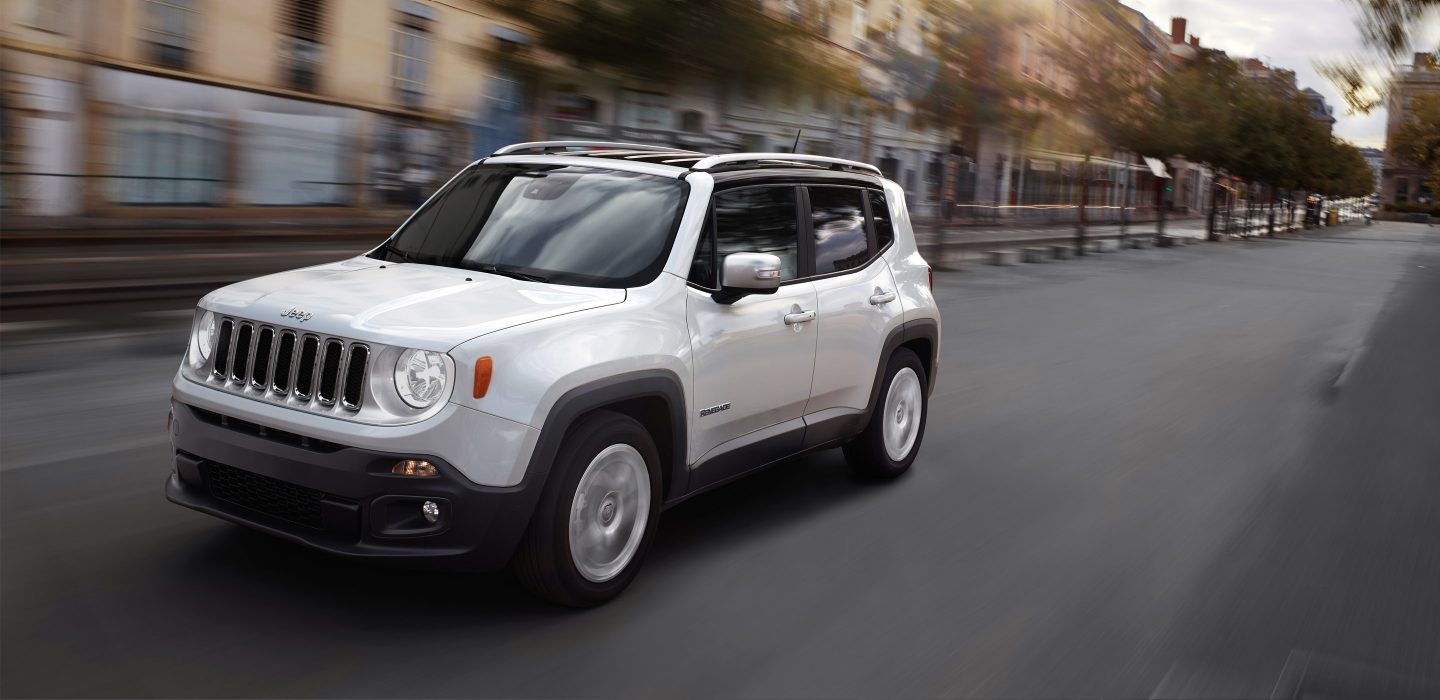 2018 Jeep Renegade Front White Exterior