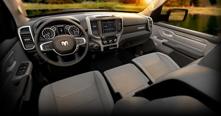 2019 Ram 1500 Front Interior Steering Wheel and Dashboard