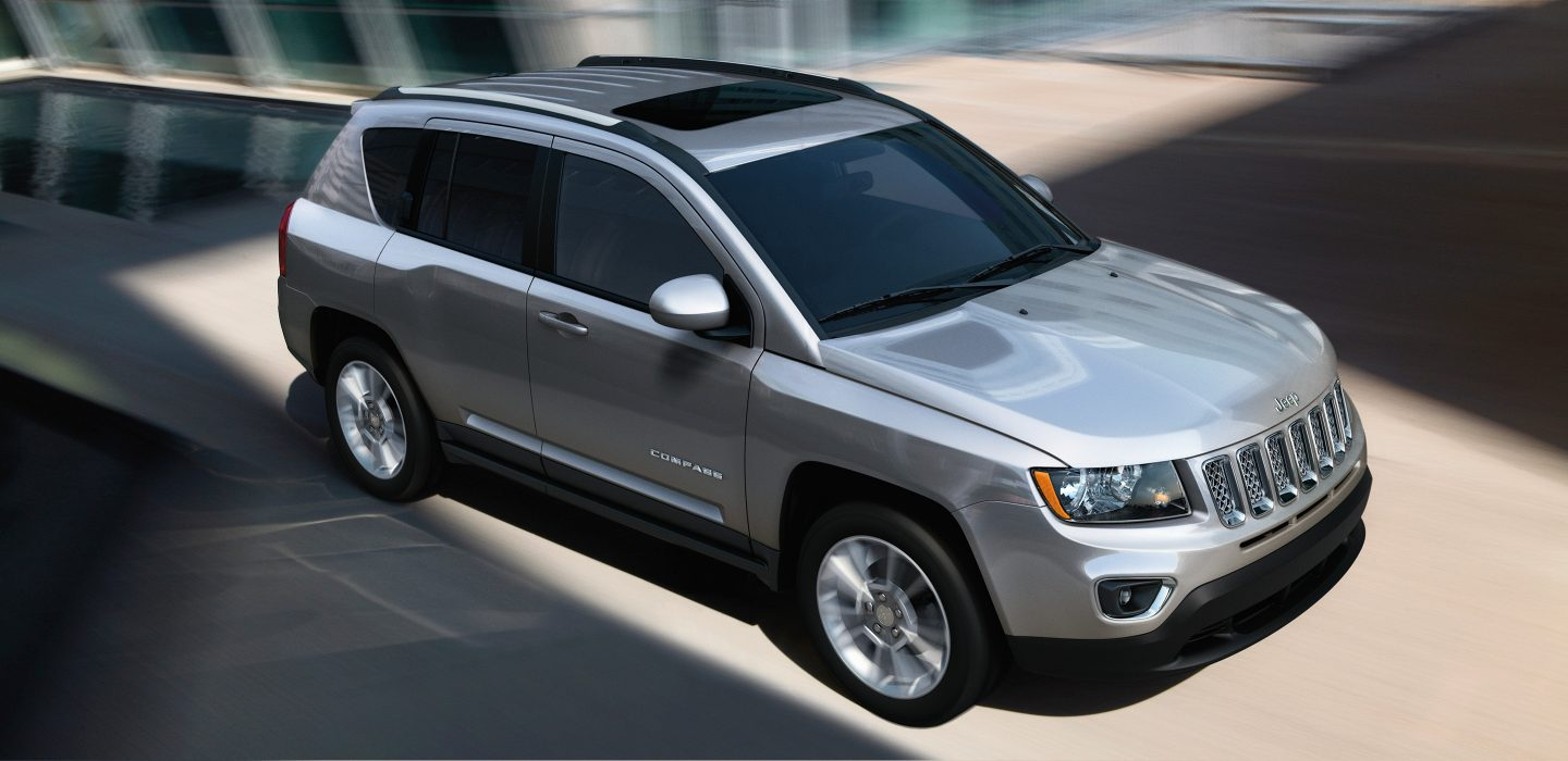 2017 Jeep Compass Silver Aerial Side Exterior