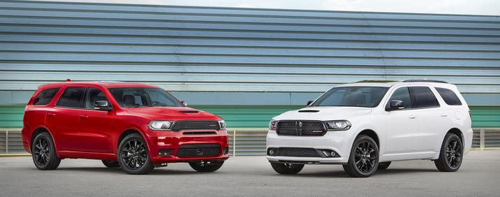 2018 Dodge Durango Front Red and White Exterior