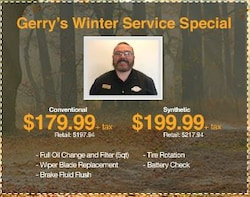 Gerry's Winter Service Special