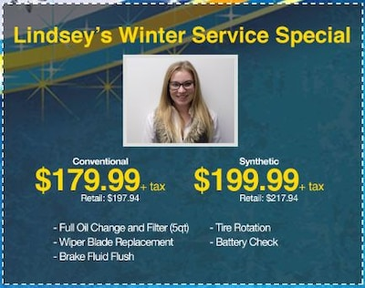Lindsey's Winter Service Special