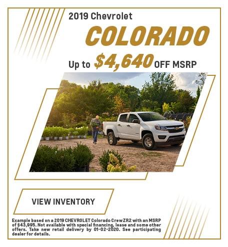 December 2019 Chevrolet Colorado Offer