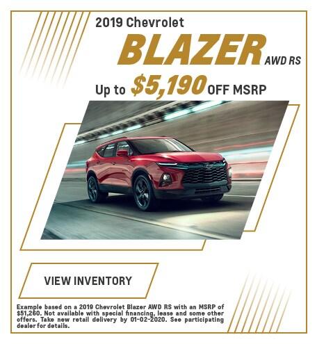 December 2019 Chevrolet Blazer Offer