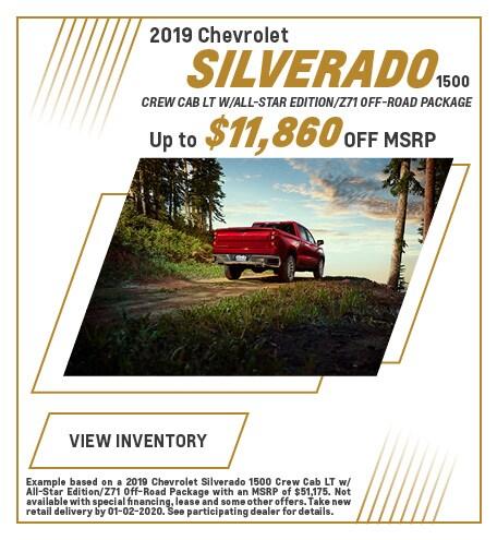 December 2019 Chevrolet Silverado Offer
