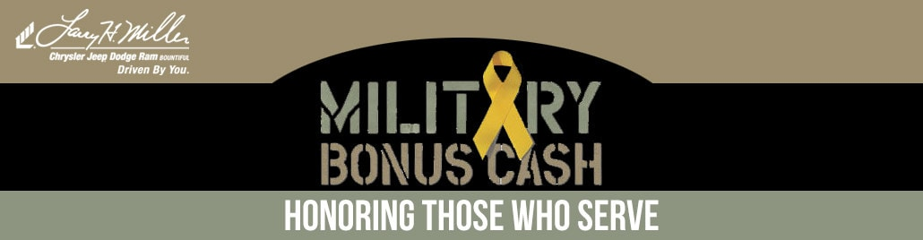 Military Bonus Cash Program at Bountiful Chrysler Jeep