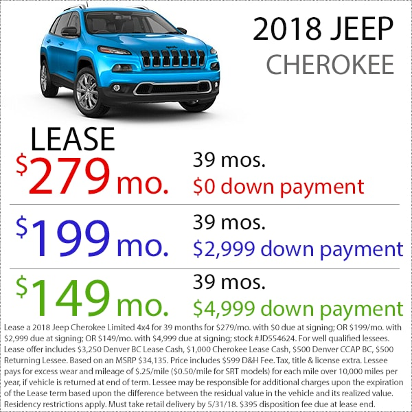 Denver Jeep Cherokee Lease Deal