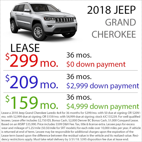 Denver Jeep Grand Cherokee Lease Deal