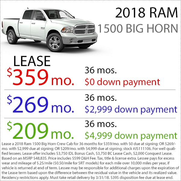Denver Ram 1500 Big Horn Lease Deal