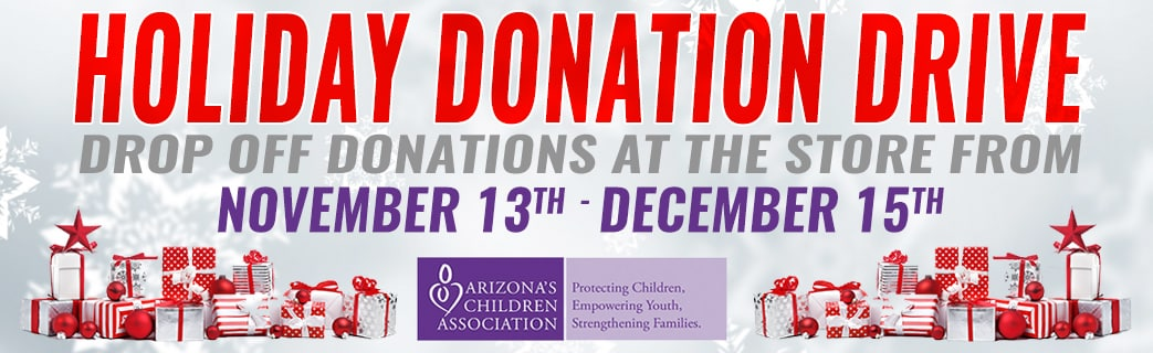 7th Annual AADA Holiday Donation Drive Banner