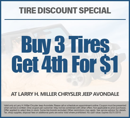 Buy 3 Tires Get The 4th For $1 at Larry H. Miller Chrysler Jeep Avondale.png
