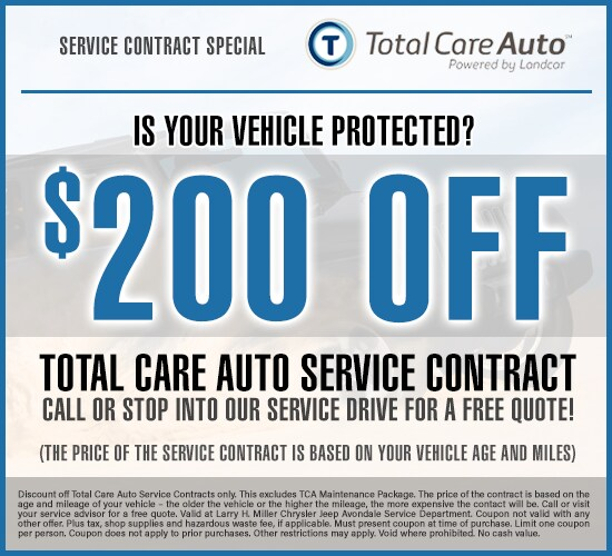 $200 Off Total Care Auto Service Contract at Larry H. Miller Chrysler Jeep Avondale