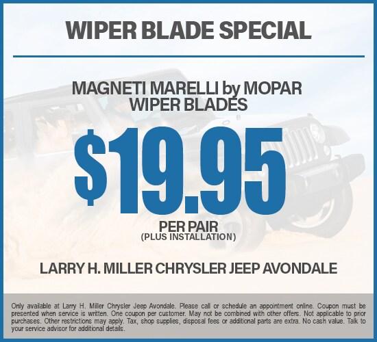 $19.95 Magneti Marelli Wiper Blades at Larry H. Miller Chrysler Jeep Avondale