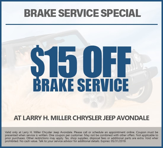$15 Off Brake Service at Larry H. Miller Chrysler Jeep Avondale