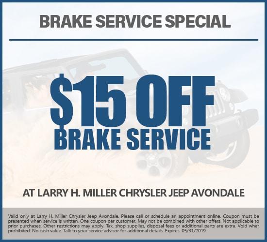$15 Off Brake Service at Larry H. Miller Chrysler Jeep Avondale