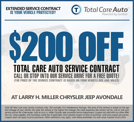 $200 Off Extended Service Contracts at Larry H. Miller Chrysler Jeep Avondale