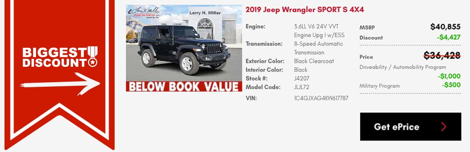 Get the best deal on this Jeep Wrangler stock number J4207