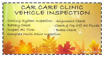 Complimentary Vehicle Inspection