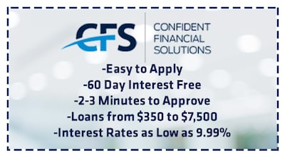 INSTANT FINANCING FOR SERVICE REPAIRS