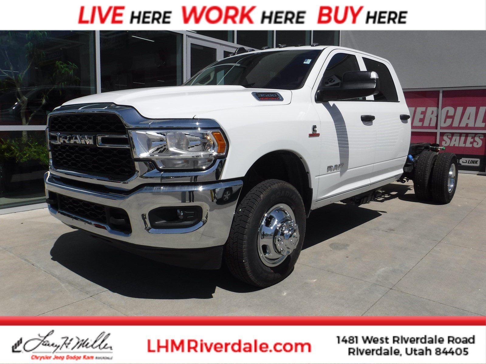 Featured New 2019 Ram 3500 Chassis Cab 3500 TRADESMAN CREW CAB CHASSIS 4X4 172.4 WB Crew Cab for sale near you in Riverdale, UT