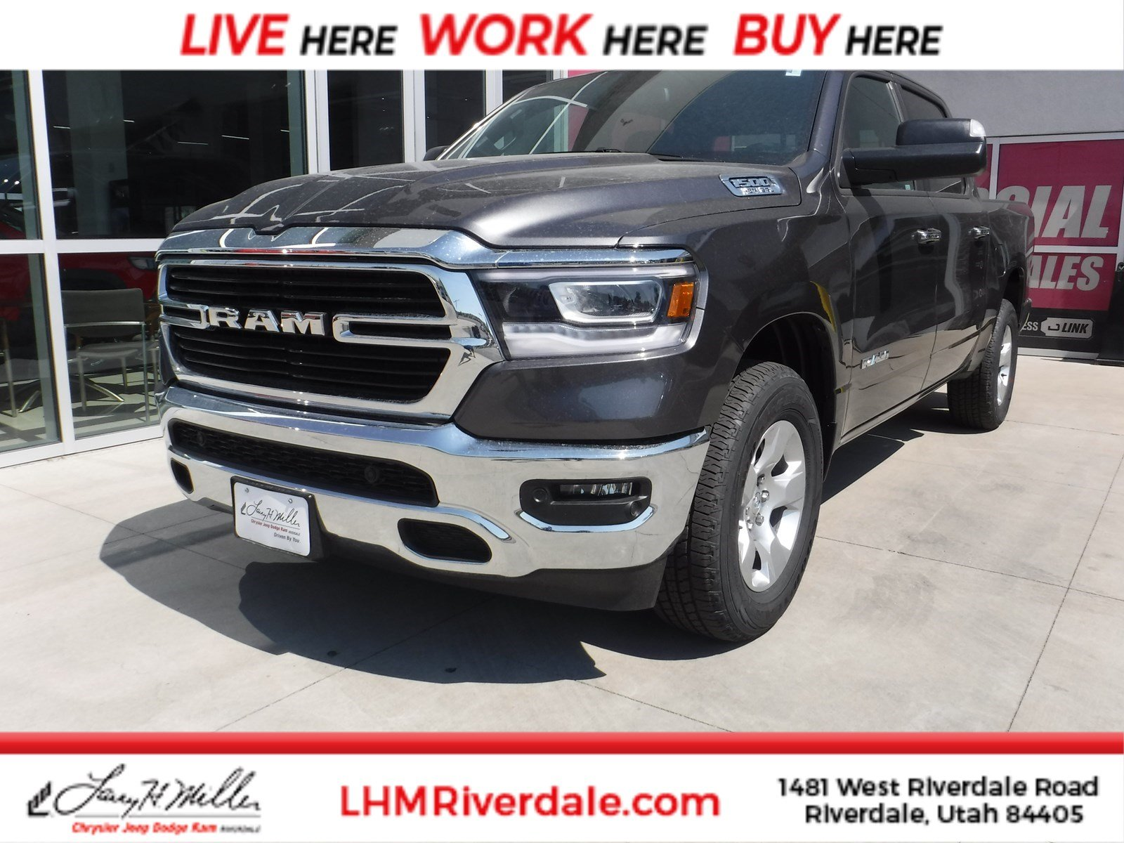 Featured New 2019 Ram 1500 BIG HORN / LONE STAR CREW CAB 4X4 5'7 BOX Crew Cab for sale near you in Riverdale, UT